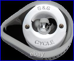 S & S Cycle Stealth Air Cleaner Covers Chrome Teardrop 170-0532