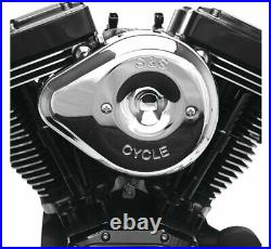 S&S Cycle Stealth Series Teardrop Chrome Air Cleaner Kit 170-0526