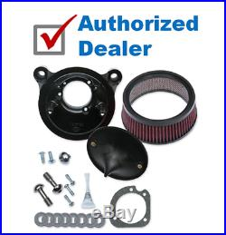 S&S Cycle Super Stock Stealth Black Stage 1 Air Cleaner Filter Kit Harley TCBT