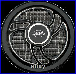 S&S Cycle Wrinkle Black Powder-Coat Torker Stealth Air Cleaner Cover