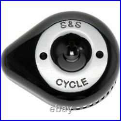 S&S Slasher Black Tear Drop Stealth Air Cleaner Filter Replacement Cover Harley