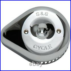 S&S Slasher Chrome Tear Drop Stealth Air Cleaner Filter Replacement Cover Harley