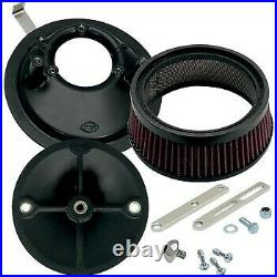 S&S Super Stock Stealth Air Cleaner Kit for Sportster 86-90 with E & G Series Carb