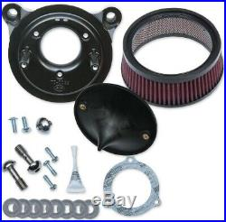 S&S Super Stock Stealth Stage 1 Air Cleaner Harley Twin Cam TBW 08-17
