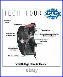 S&S Super Stock Stealth Stage 1 Air Cleaner for Harley EVO Big Twin Models 93-99