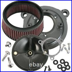 S&S Super Stock Stealth Stage 1 Air Cleaner with Rushmore Adapter 14-16 FLH/T