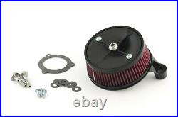S&s Cycle Black Stealth High Flow Air Cleaner 99-06 Twin Cam Cv/01+ Efi Dyna